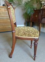 Set of Four Victorian Walnut Dining Chairs (4 of 6)