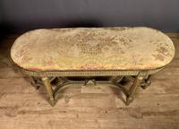 French Giltwood Tapestry Upholstered Window Seat (3 of 10)