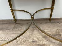 French Brass Square Leather Top Coffee Table (16 of 28)