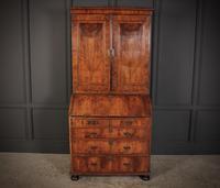 Queen Anne Walnut Bureau Bookcase (2 of 12)