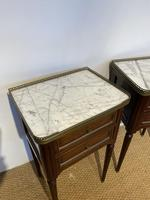 Pair of Mahogany 2 Drawer Bedside Cabinets (5 of 5)