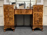 Stylish Art Deco Burr Walnut Dressing Table (4 of 20)