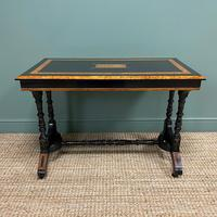 Spectacular Victorian Arts & Crafts Walnut Antique Centre Writing Table