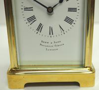 Fine Antique French 8-day Carriage Clock Timepiece by Drew & Sons London (3 of 11)