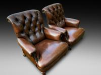 Pair of Leather Library Chairs (2 of 4)