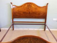 Antique Figured Walnut Double Bed. (12 of 17)