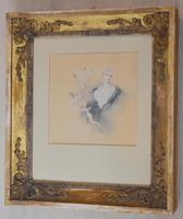 Fine Watercolour of a Lady with Cherubs by Lucius Rossi (2 of 5)