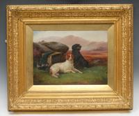 "Victorian Oil Painting Hunting ""Game Dogs"" Signed Robert Cleminson (2 of 29)"