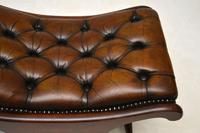 Regency Style Leather Armchair & Stool (14 of 14)