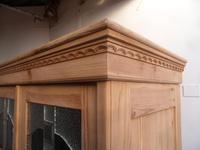Original Arts & Crafts Antique Pine 2 Door Knockdown Wardrobe to wax / paint (6 of 11)