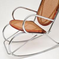 1970's Pair of Retro  Chrome & Bamboo Rocking Chairs (11 of 13)