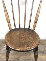 Set of Four Victorian Elm Penny Chairs (M-1317) (10 of 11)
