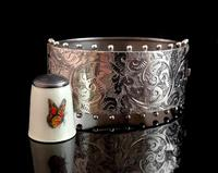 Victorian silver cuff bangle, Aesthetic (2 of 15)