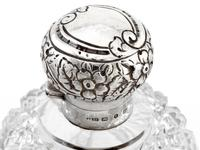 Victorian Ovoid Shape Cut Glass and Silver Perfume Bottle (4 of 5)