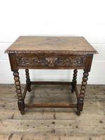 Antique Oak Carved Green Man Side Table (2 of 10)