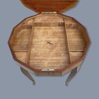 Italian Dodecagon Marquetry Musical Side Table (5 of 8)