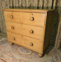 Petite Antique Chest - Stripped Pine Chest of Drawers (5 of 8)