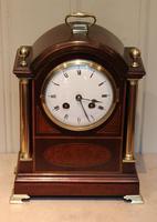 Mahogany and Inlay Bracket Clock (3 of 13)