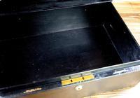 George V John Peck Black Morocco Leather Despatch Box (8 of 12)