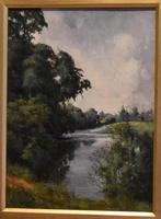 View of the Trent, oil painting by Percy Robinson (6 of 8)