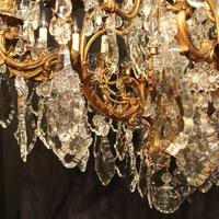 French 19th Century Bronze 24 Light Antique Chandelier (3 of 11)