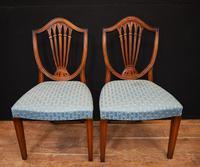 Set 8 Hepplewhite Dining Chairs Mahogany (2 of 7)