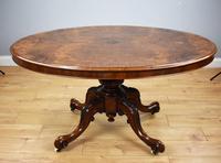 Victorian Burr Walnut Oval Tilt Top Breakfast Table (6 of 7)