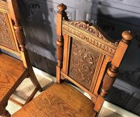 Pair of Victorian Oak Hall Chairs (5 of 17)