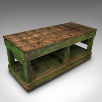 Large Antique Factory Mill Table, English, Pine, Industrial, Victorian c.1900 (7 of 10)