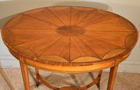 Late 19th Century Oval Satinwood Inlaid Table (4 of 6)