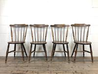 Set of Four Victorian Elm Penny Chairs (M-1317) (2 of 11)