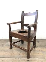Antique Stained Pine Child's Potty Chair (9 of 12)