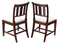 Pair of Georgian mahogany dining side hall bedroom chairs (7 of 7)