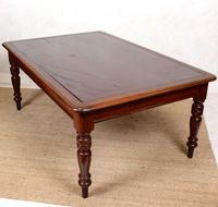 Large Library Desk Mahogany Leather 19th Century (9 of 9)