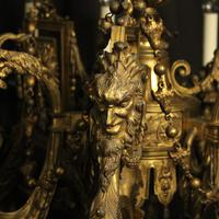 French Gilded Bronze 12 Light Antique Chandelier (5 of 12)