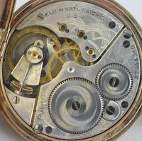 1925 9K Gold Elgin Full Hunter Pocket Watch (4 of 4)
