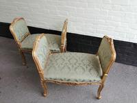 Superb quality pair of 19th century French giltwood window seats (5 of 8)