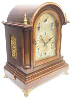 Mahogany & Bevelled Glass W&H Mantel Clock Dual Chiming Musical Bracket Clock Chiming on 9 Coiled Gongs (4 of 17)