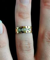 Victorian Rose Cut Diamond and Split Pearl Ring, 15ct Gold (11 of 12)