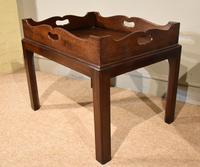 Mid 18th Century Mahogany Tray on Stand (3 of 8)