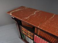 William IV Rosewood and Pink Marble Top Open Bookcase (5 of 13)