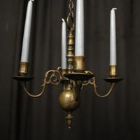 English Pair of Bronze Antique Chandeliers (5 of 10)