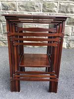Edwardian  Inlaid Mahogany Nest 4 Tables (4 of 12)