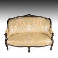 Fine Mid 19th Century Ebonised Mahogany Sofa (3 of 6)