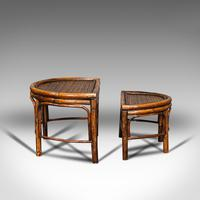 Antique Set of Nesting Tables, Oriental, Bamboo, Occasional, Side, Edwardian (7 of 10)
