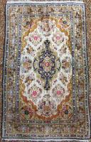 Antique Kashmir Silk Carpet (4 of 8)