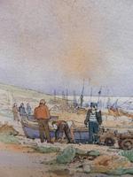 Watercolour & Ink Hastings Boats Listed Artist Valerie Sadler (4 of 10)