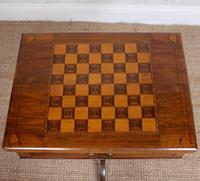 Rosewood Games Table Chess Board Folding Card Table 19th Century (12 of 16)
