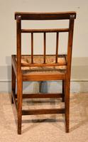 George III Elm Dining Chairs with Rush Seats (5 of 7)