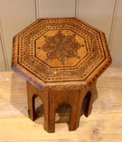 Small Anglo Indian Hexagonal Teakwood Table (2 of 7)